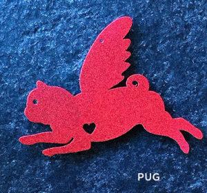 Pug hanging mobile